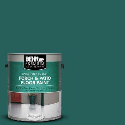 1 gal. #S-H-490 Billiard Table Low-Lustre Porch and Patio Floor Paint