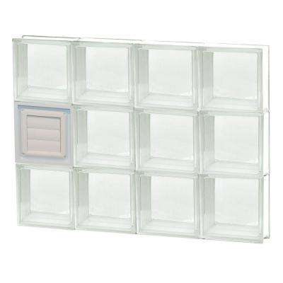 31 in. x 23.25 in. x 3.125 in. Clear Glass Block Window with Dryer Vent