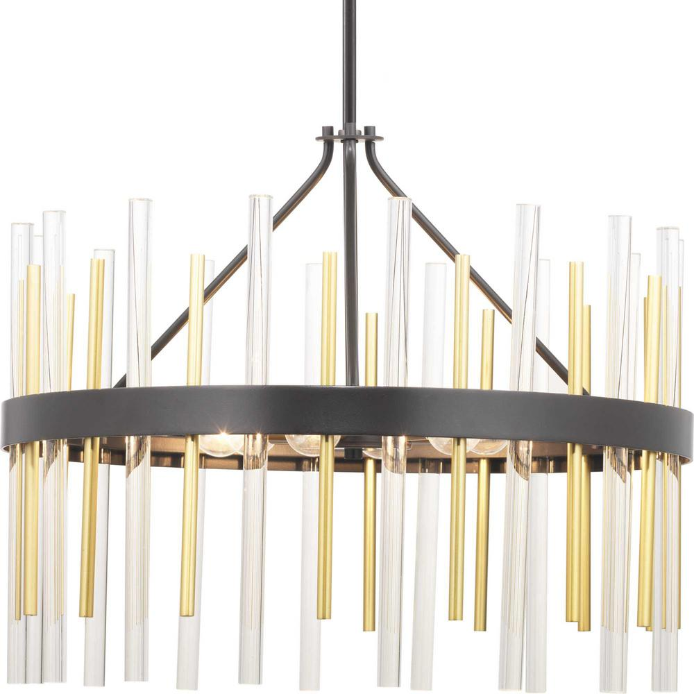 Progress Lighting Orrizo 6 Light Black Chandelier