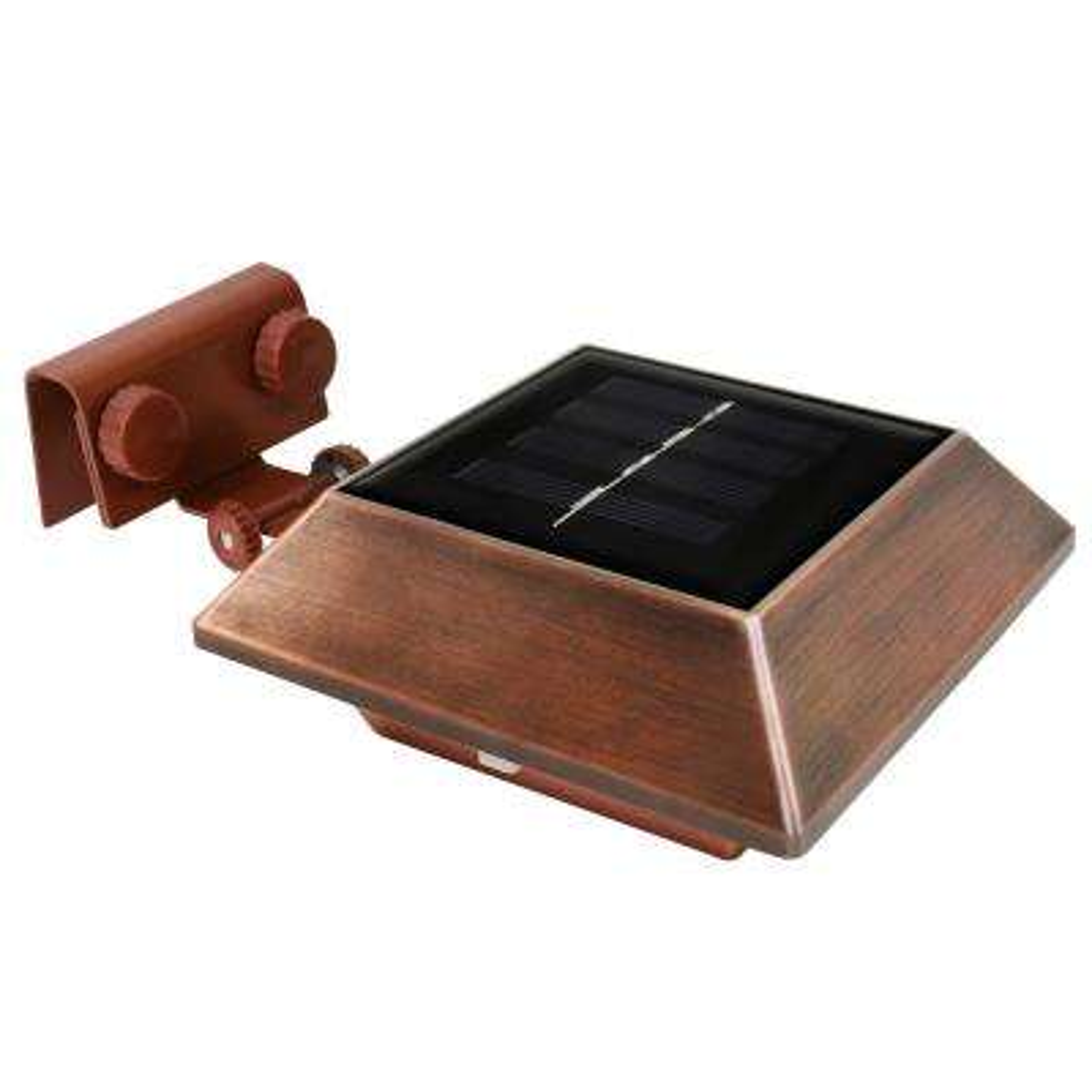 Solar Copper Square Integrated LED Flood Light (2-Pack)