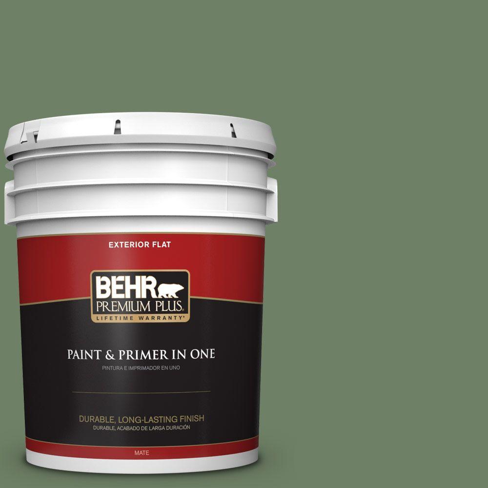 BEHR Premium Plus 5-gal. #S390-6 Cliffside Park Flat Exterior Paint