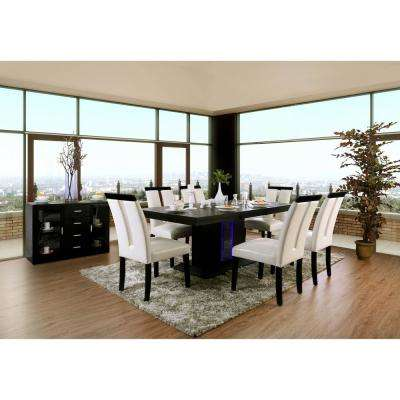 Evalgeline Transitional Style Dining Table in Black Finish