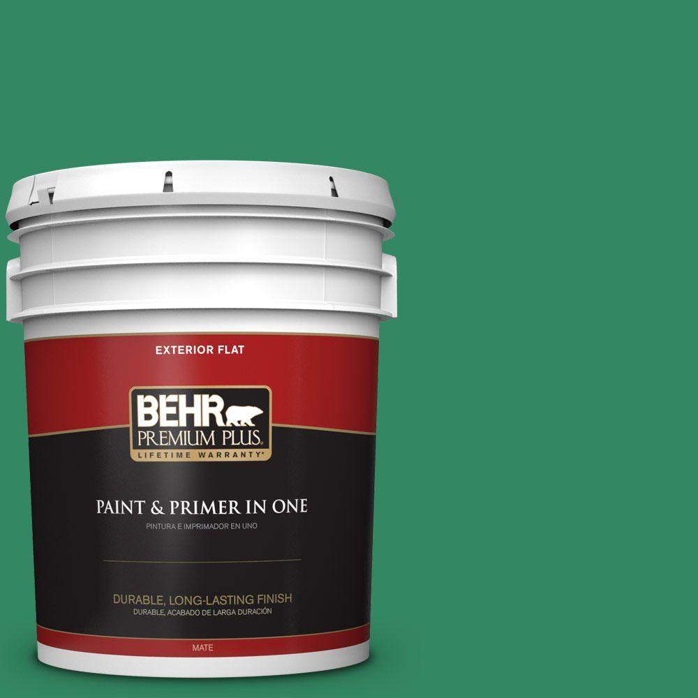 5-gal. #P420-6 Exquisite Emerald Flat Exterior Paint
