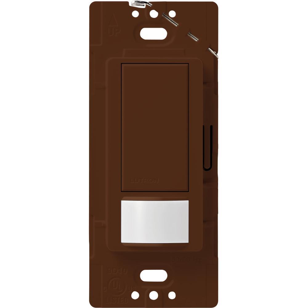 Lutron Maestro Vacancy Sensor switch, 5-Amp, Single-Pole or Multi-Location, Sienna