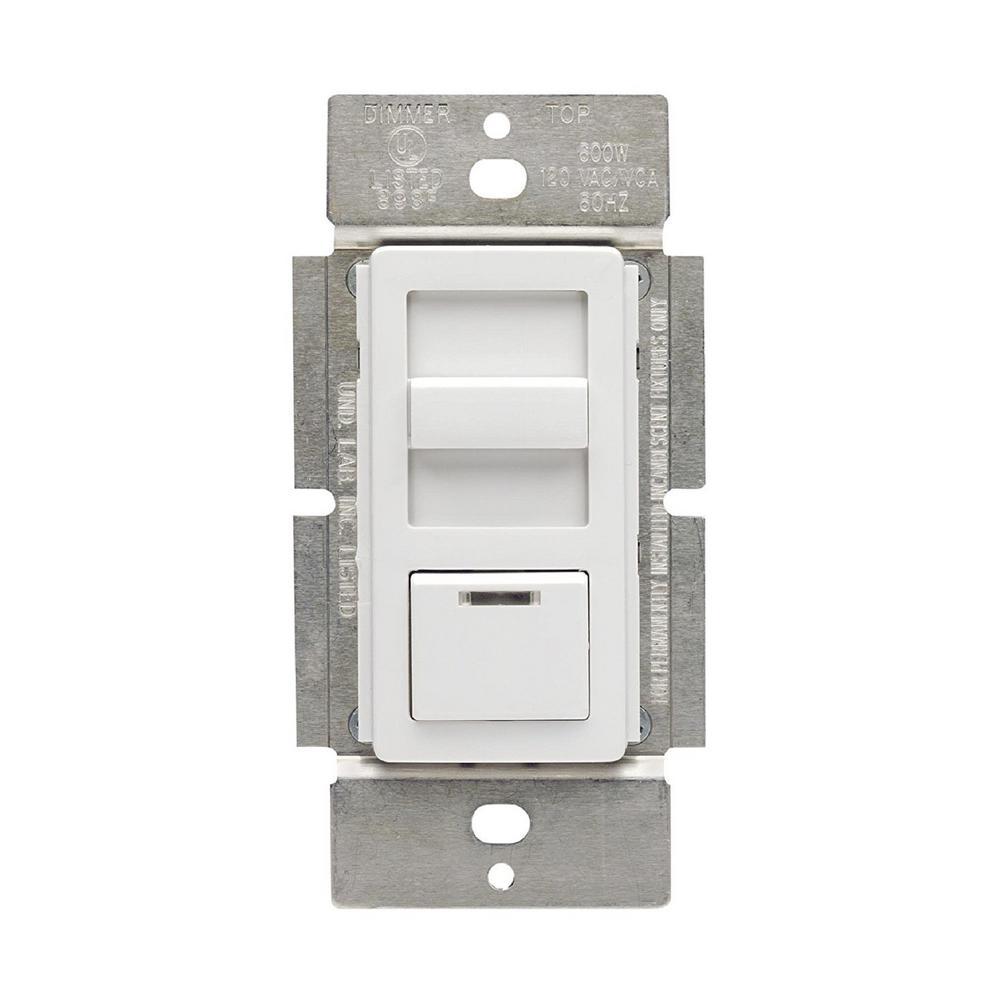 leviton illumatech 1000-volt 800-watt magnetic low voltage dimmer, single  pole and