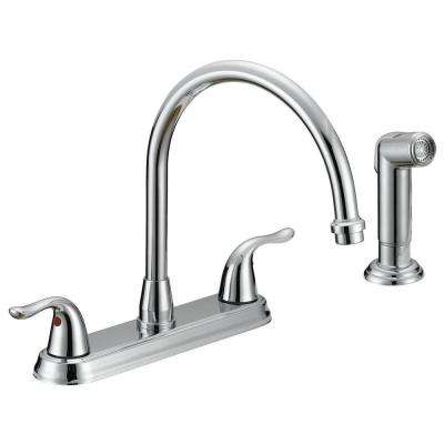 Impression Collection 2-Handle Standard Kitchen Faucet with Side Sprayer in Chrome