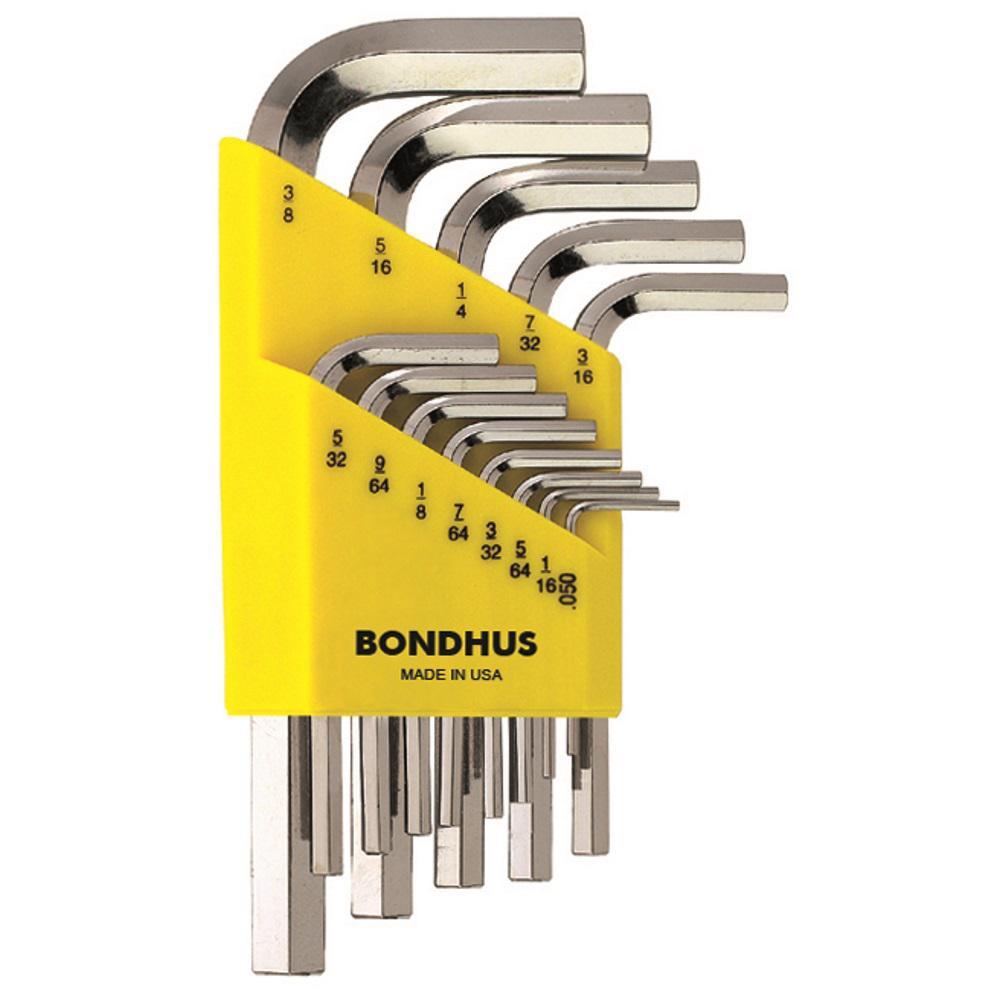 Bondhus Standard Hex End Short Arm L-Wrench Set with BriteGuard Finish (13-Piece) by Bondhus
