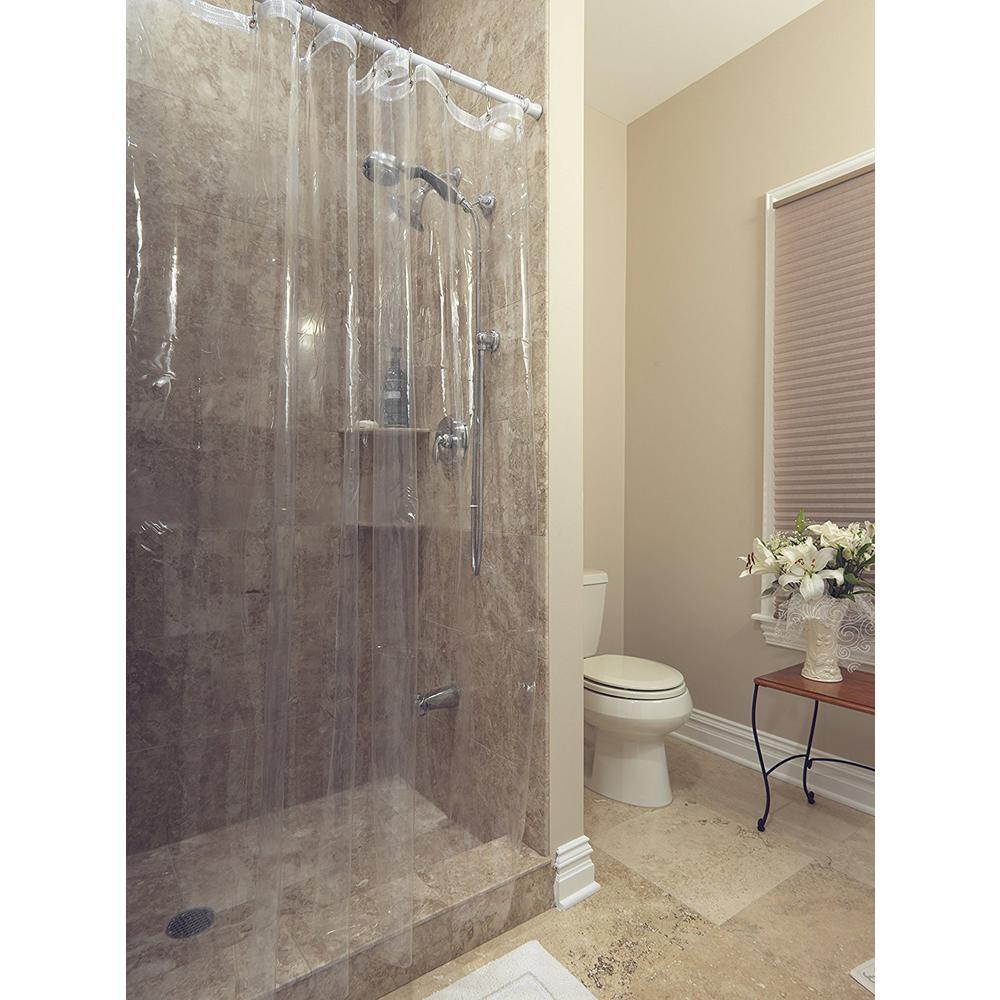 Venice Collection Heavy Duty 10 Gauge 72 In X Clear Shower