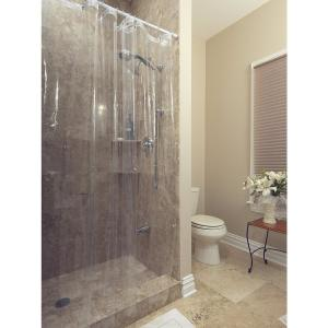 Berrnour Home Venice Collection Heavy Duty 10-Gauge 72 inch x 72 inch Clear Shower Curtain... by Berrnour Home