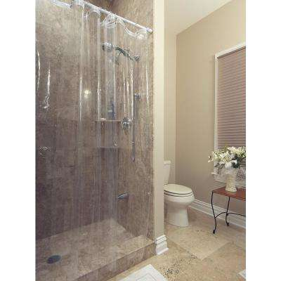 Venice Collection Heavy Duty 10-Gauge 72 in. x 72 in. Clear Shower Curtain Liner with Rust Proof Metal Grommets