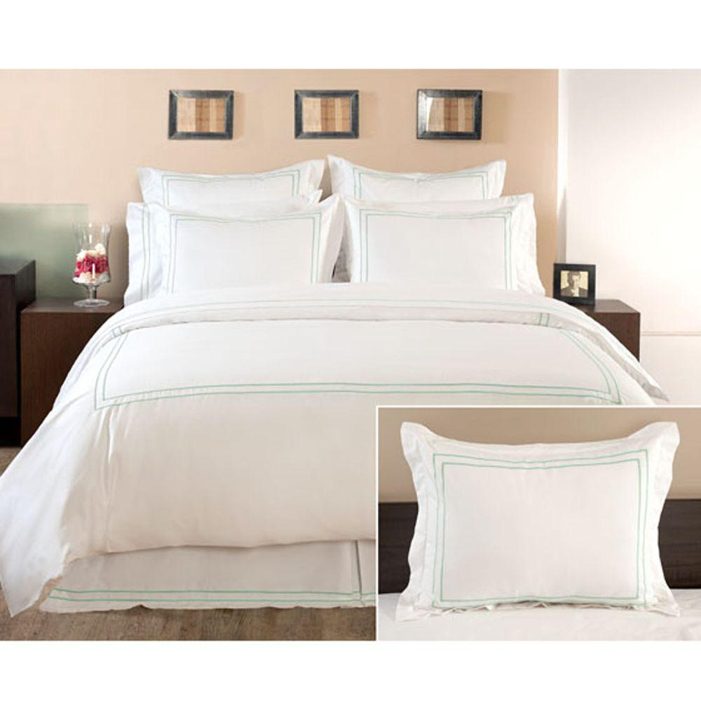 Home Decorators Collection Embroidered Watery Euro Sham