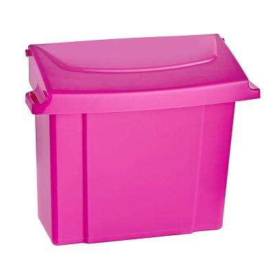Pink Durable Plastic Sanitary Napkin Receptacle