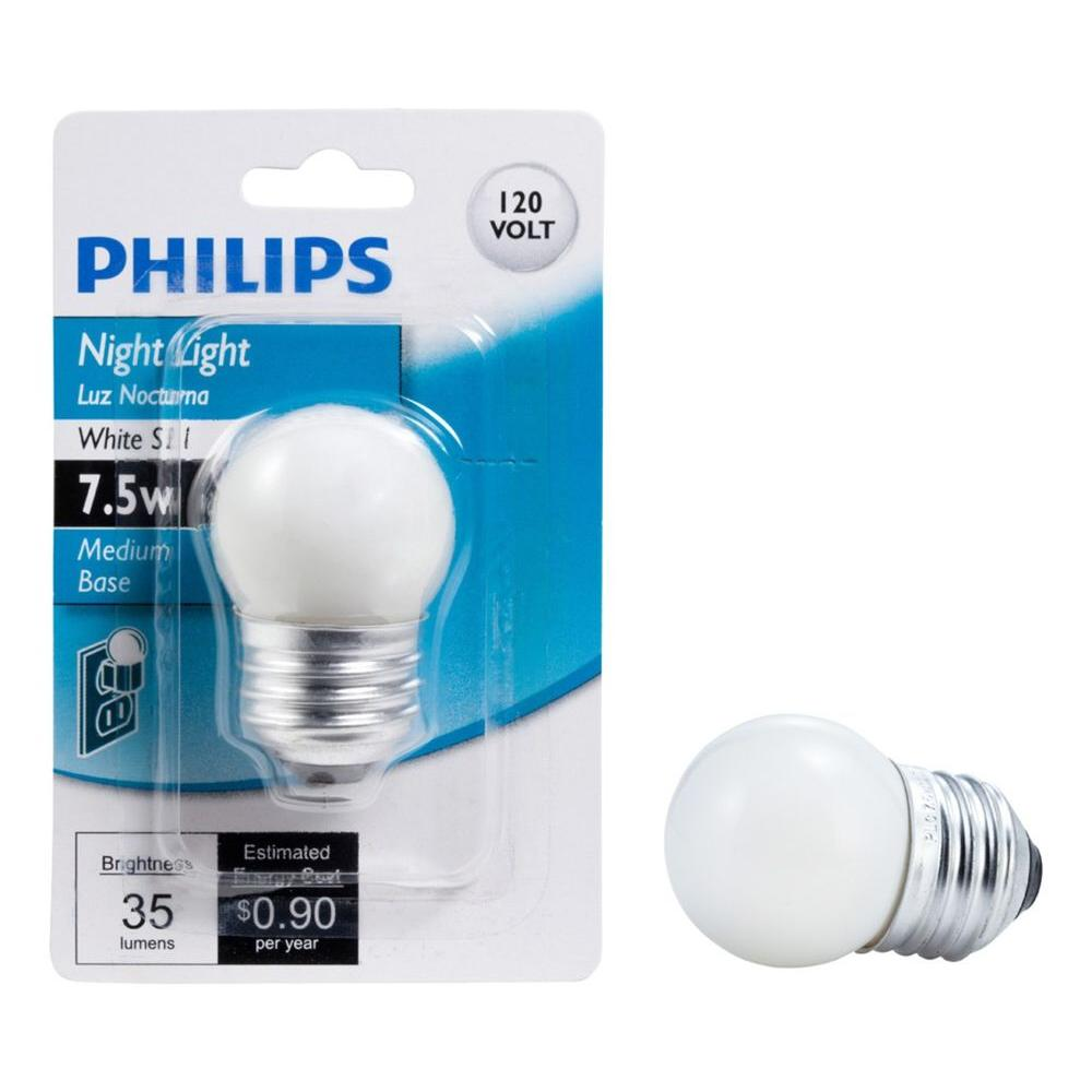 Philips 7.5-Watt S11 Incandescent White Night Replacement Light Bulb