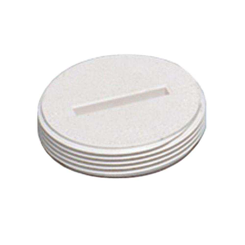 Water-Tite 4 in. Plastic Threaded Countersunk Plug (Case of 20)-DISCONTINUED