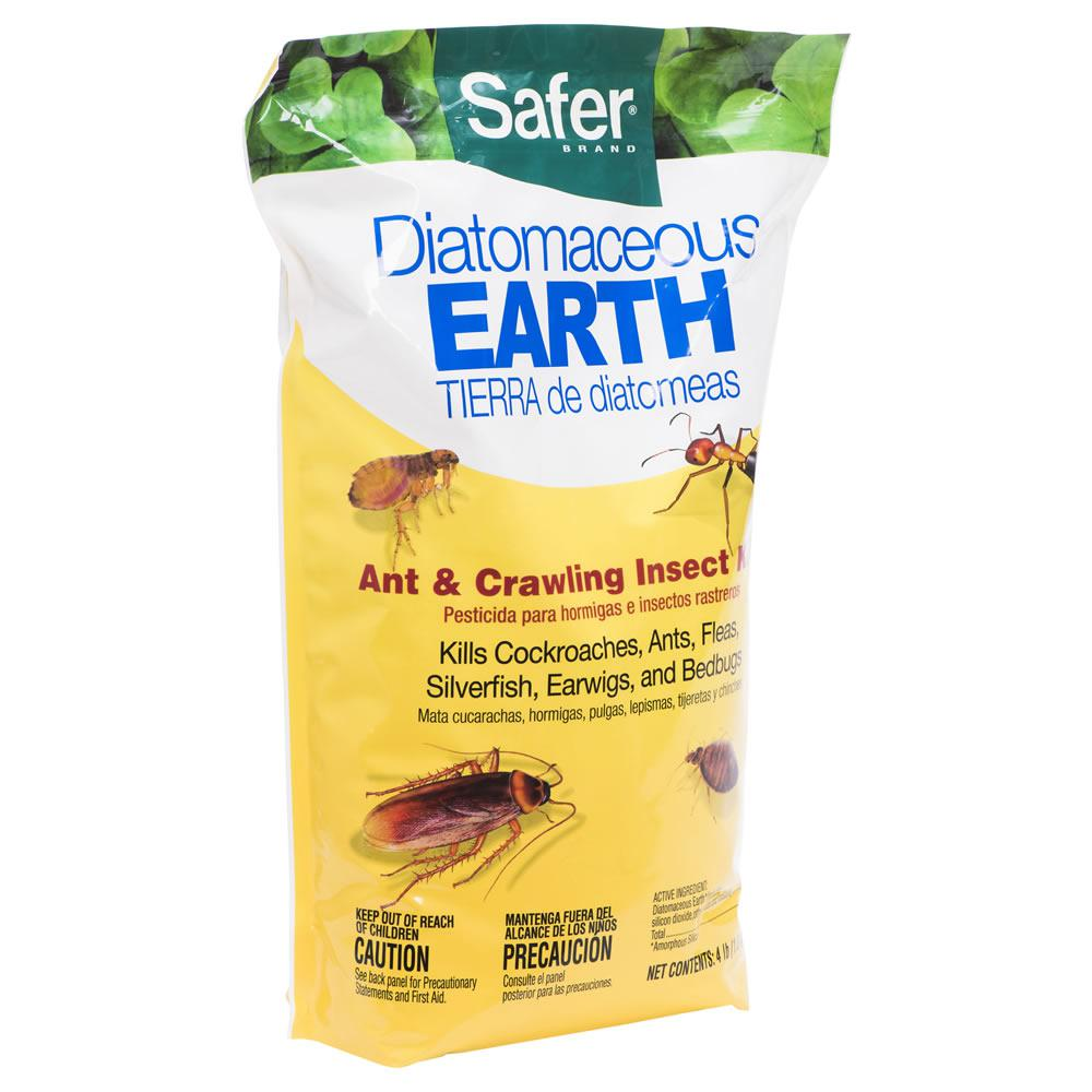 Safer Brand 4 Lb Diatomaceous Earth Bed Bug Flea Ant Crawling Insect Killer
