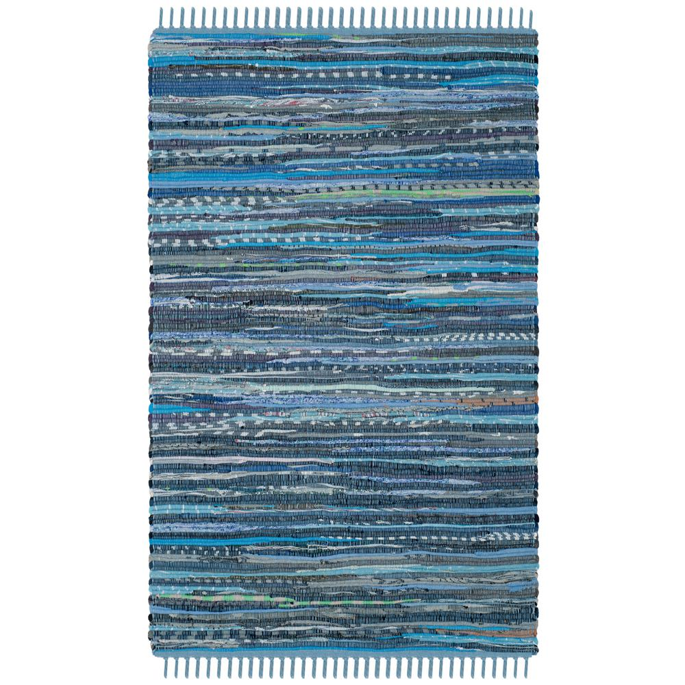 Safavieh Rag Rug Blue/Multi 3 ft. x 5 ft. Area Rug-RAR127B-3 - The ...