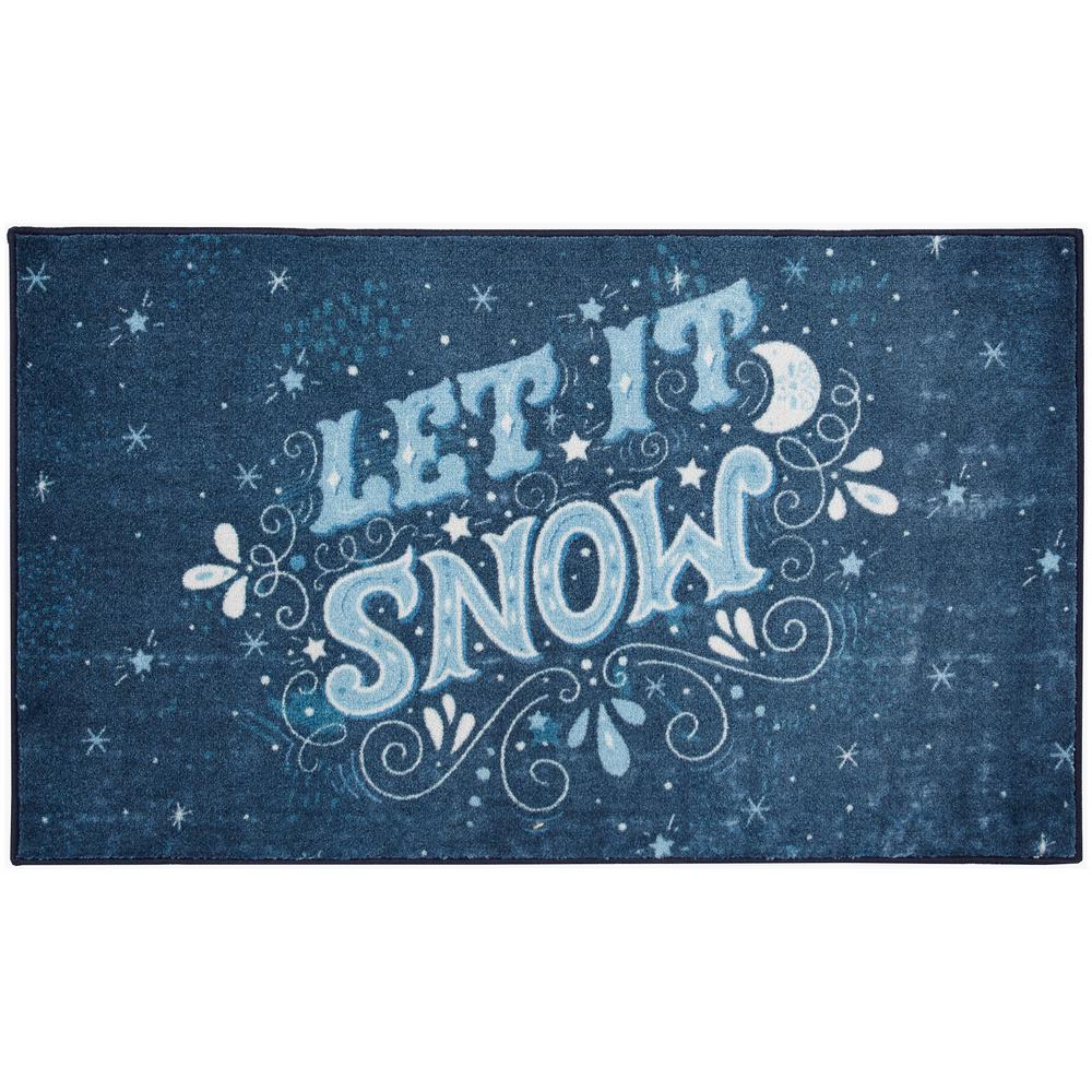 Mohawk Home Let It Snow Navy 2 ft. 6 in. x 4 ft. 2 in. Area Rug, Multi was $44.44 now $35.55 (20.0% off)