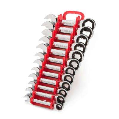 8-19 mm Stubby Ratcheting Combination Wrench Set (12-Piece)