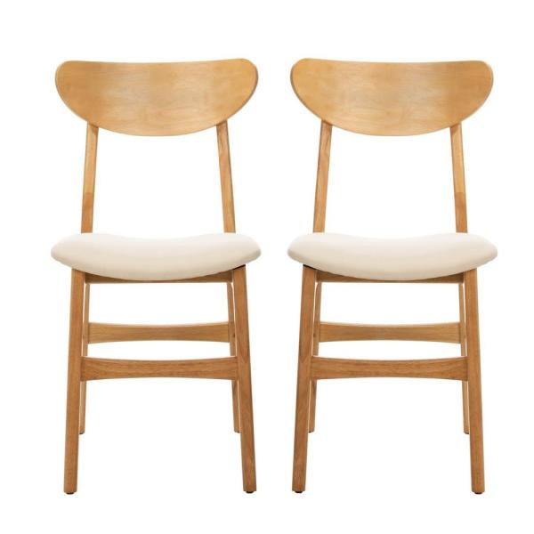 Lucca Natural/White Dining Chair