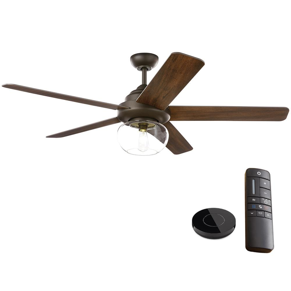 Home Decorators Collection Avonbrook 56 in. LED Bronze Ceiling Fan with Light Works with Google Assistant and Alexa