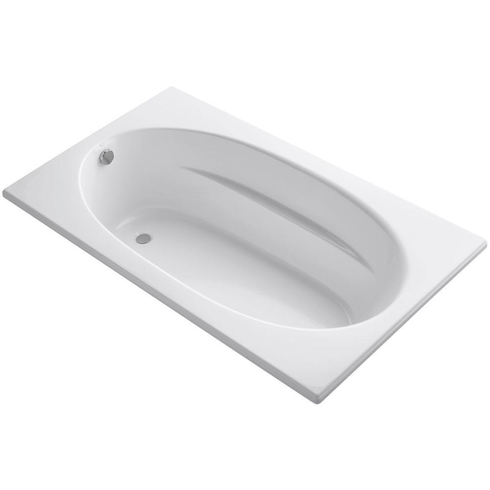 Kohler Windward 6 Ft Reversible Drain Acrylic Soaking Tub In White