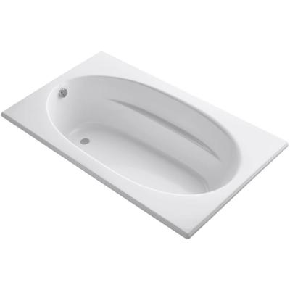 Windward 6 ft. Reversible Drain Acrylic Soaking Tub in White