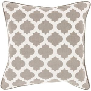 Artistic Weavers Elaia Gray Geometric 18 inch x 18 inch Decorative Pillow by Artistic Weavers