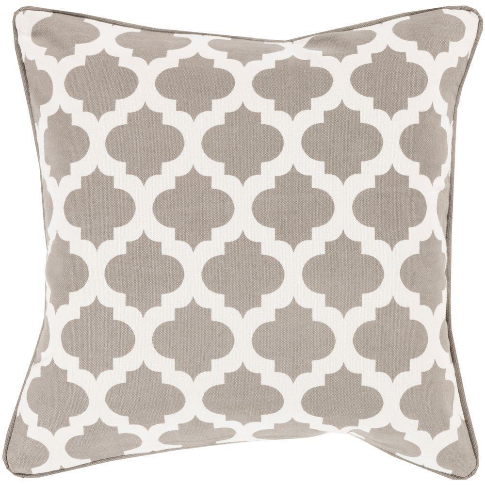 Elaia Gray Geometric 18 in. x 18 in. Decorative Pillow