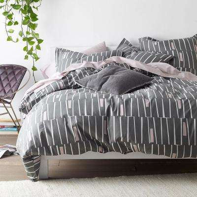 Traverse Gray Queen Duvet Cover