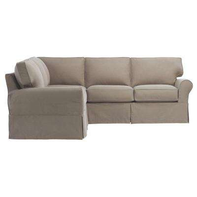 Mayfair 2-Piece Classic Smoke Sectional