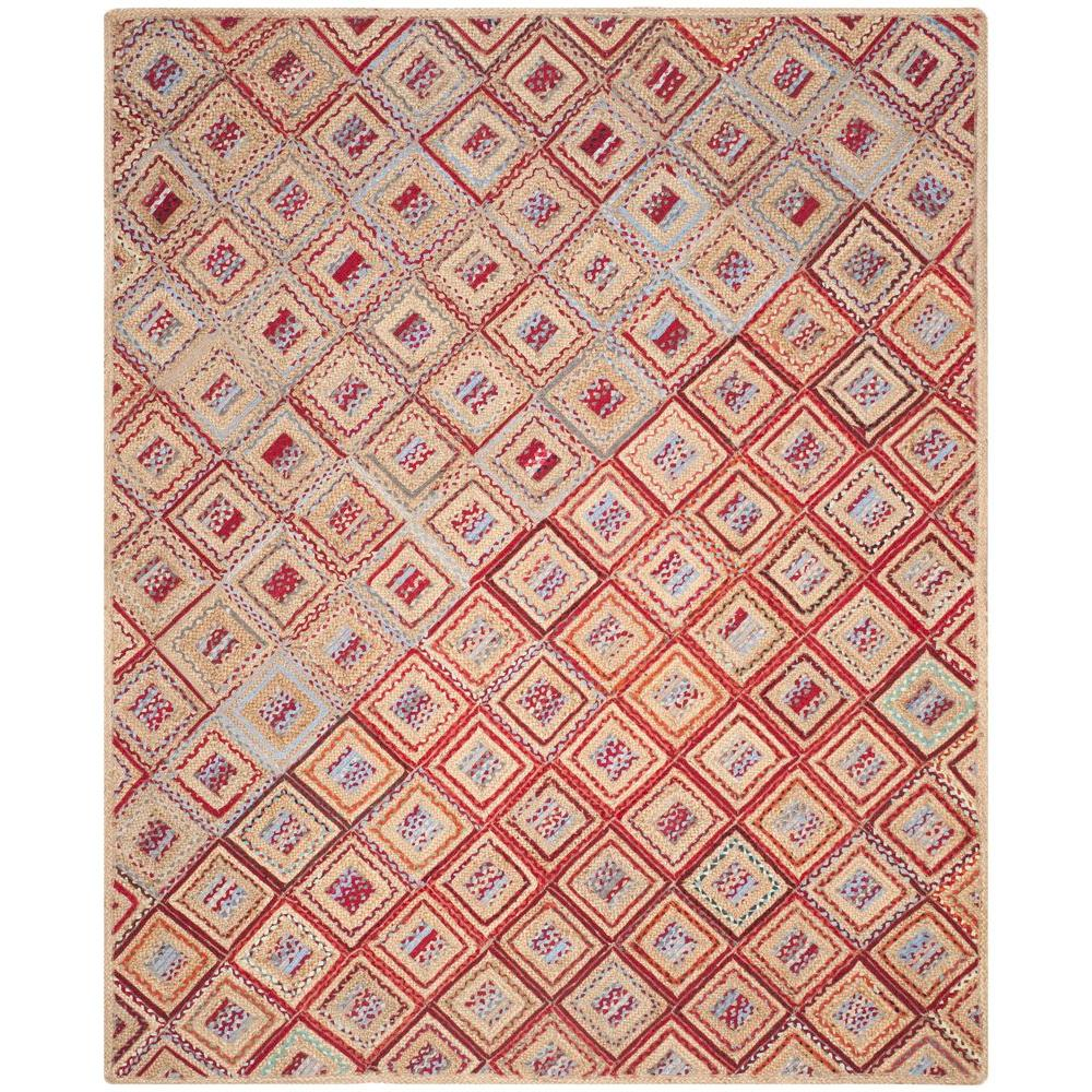 Cape Cod Natural/Red 8 ft. x 10 ft. Area Rug