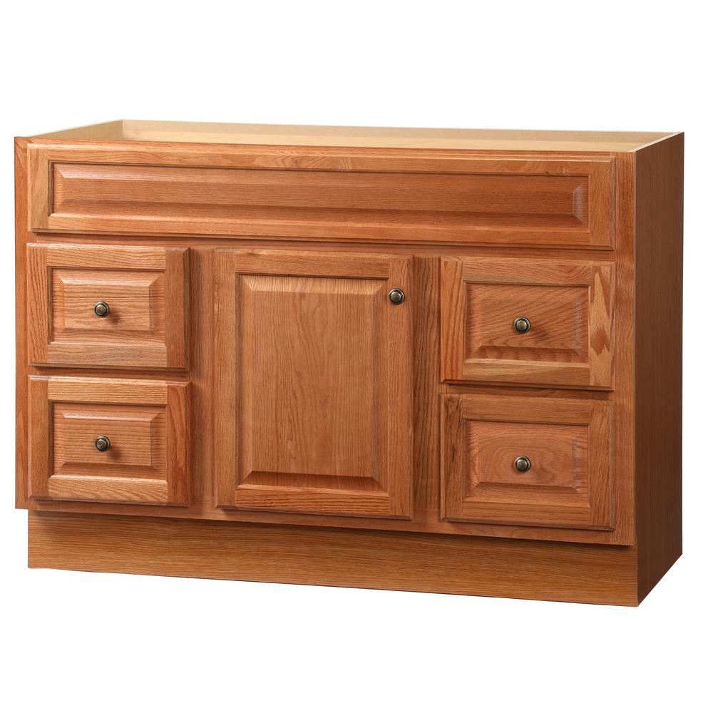 Glacier Bay Hampton 48 in. W x 21 in. D x 33.5 in. H Bath Vanity Cabinet Only in Oak