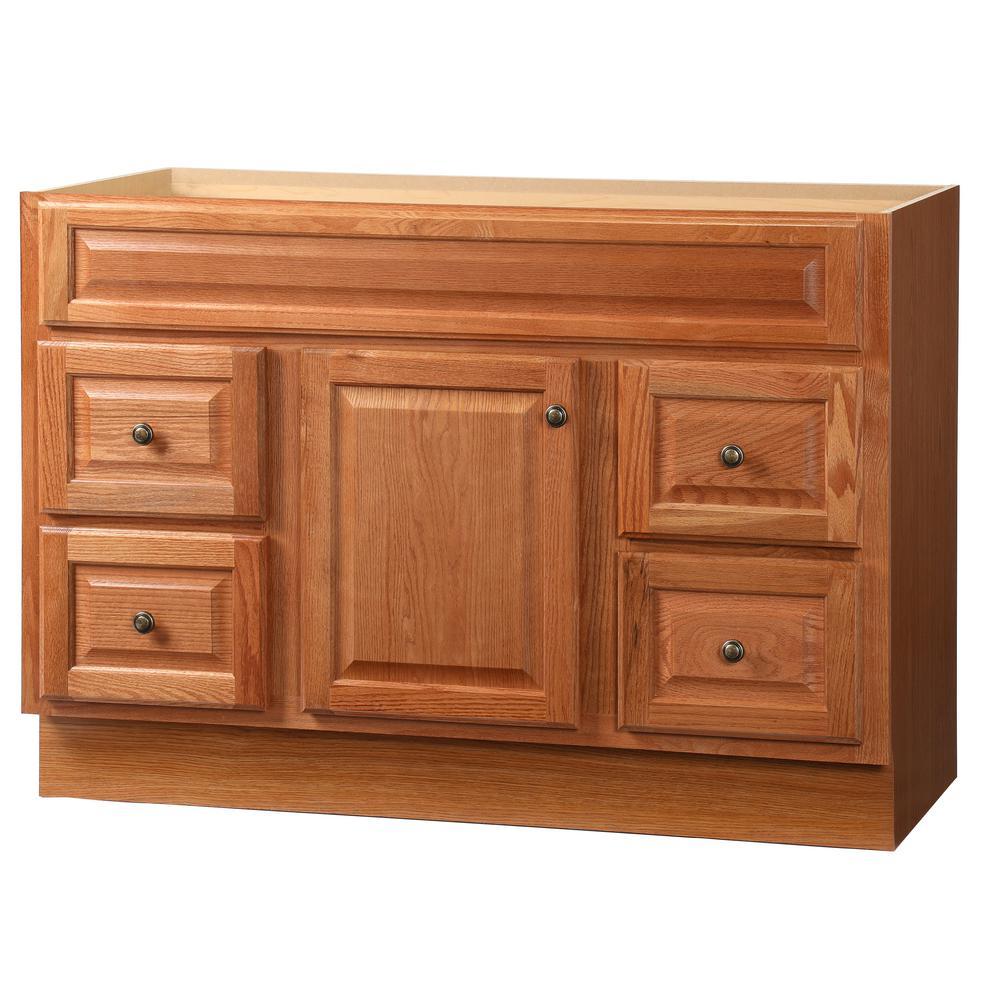 Glacier Bay Hampton 48 inch W x 21 inch D x 33.5 inch H Bath Vanity Cabinet Only in Oak by Glacier Bay