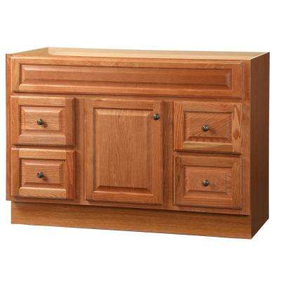 Hampton 48 in. W x 21 in. D x 33.5 in. H Bath Vanity Cabinet Only in Oak