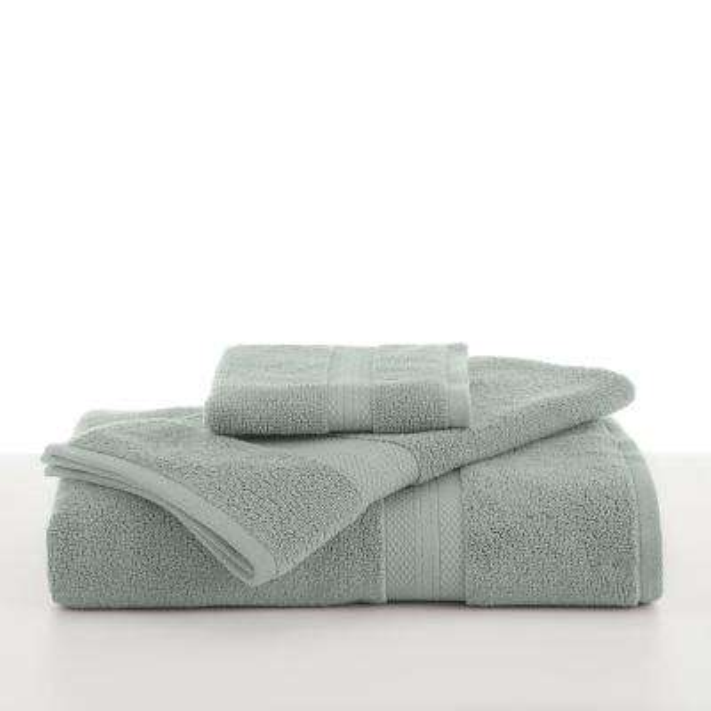 Abundance Cotton Blend  Bath Towel in Silver Sage