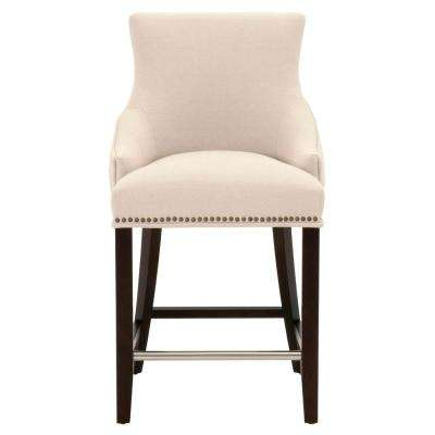 Avenue 26 in. Jute Fabric, Espresso Counter Stool