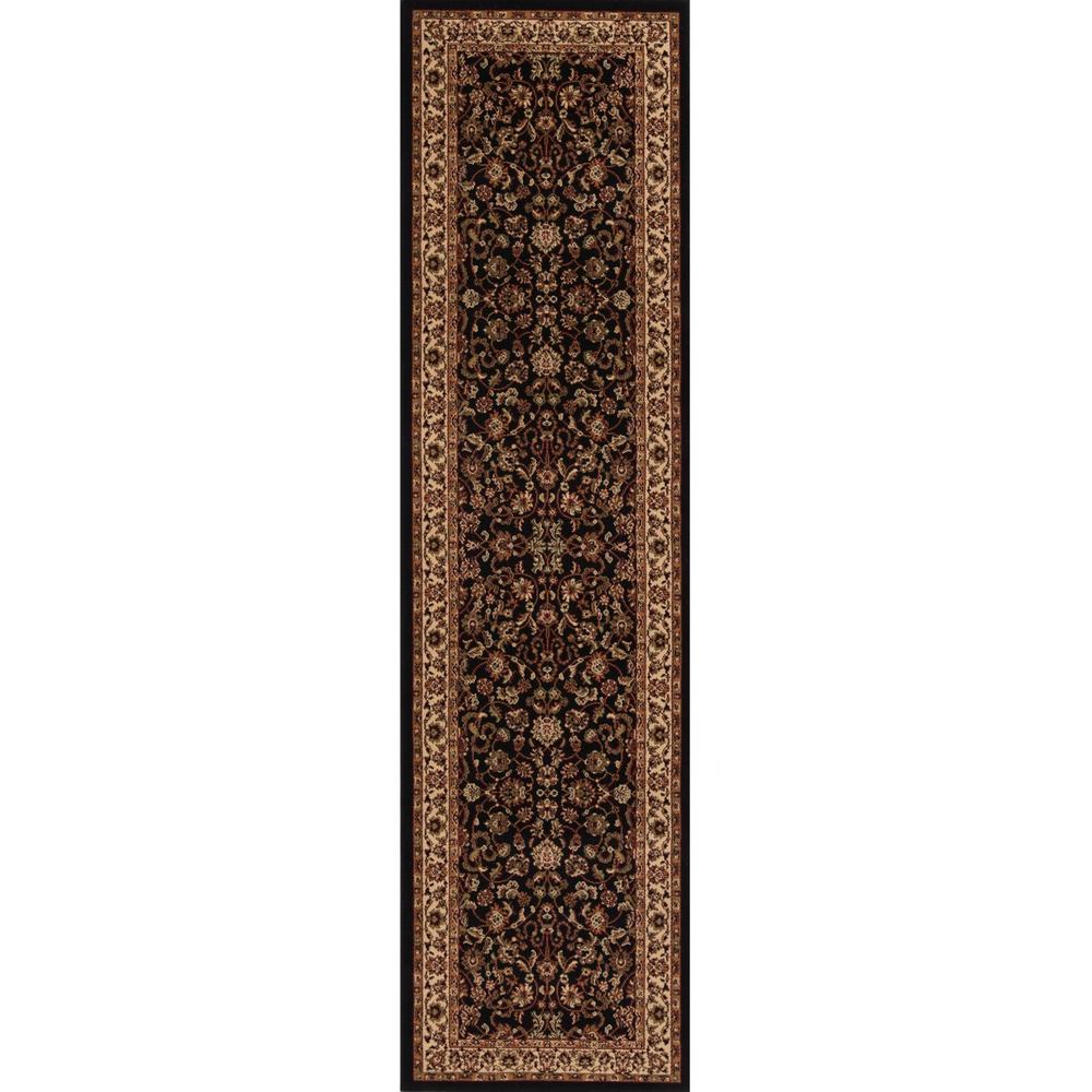 Concord Global Trading Persian Classics Kashan Black 2 Ft