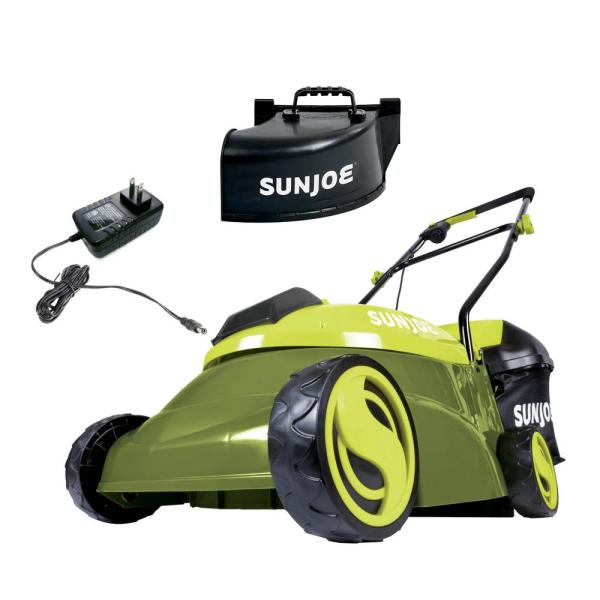 14 in. 28-Volt Brushless Cordless Walk-Behind Push Mower Kit with 5.0 Ah Battery + Charger