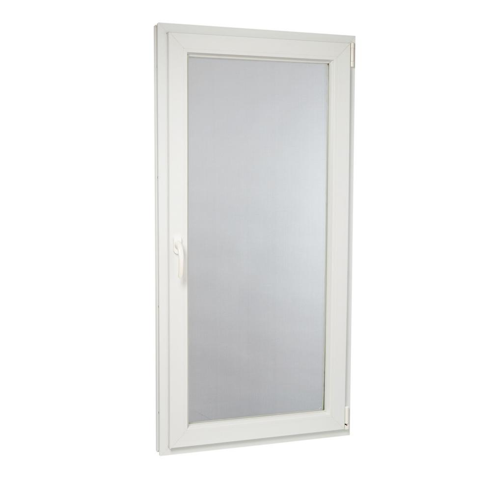 TAFCO WINDOWS 29.75 in. x 59.75 in. 88000 Series Right Hand Double-Pane Inswing Tilt Vinyl Window with White Exterior