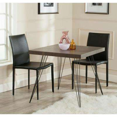 Wolcott Dark Brown and Black Dining Table