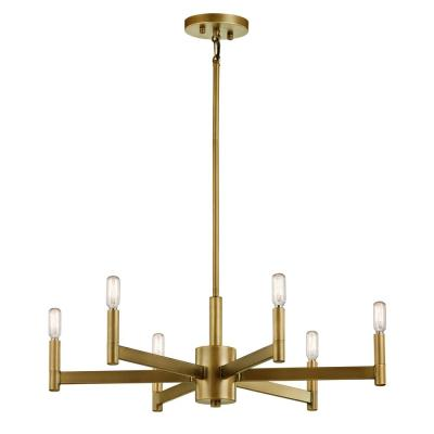 Erzo 6-Light Natural Brass Chandelier