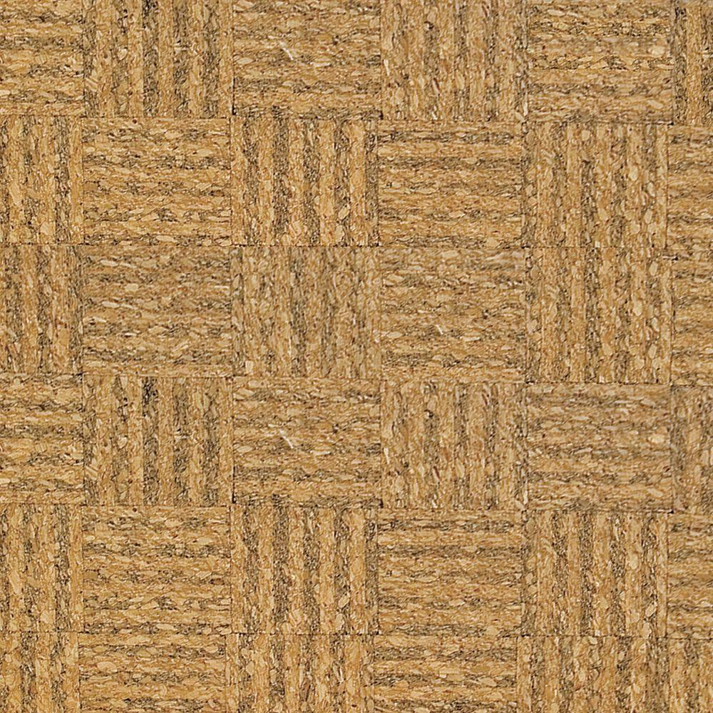 Home Legend Natural Basket Weave 1/2 in. Thick x 11-3/4 in. Wide x 35-1/2 in. Length Cork Flooring (23.17 sq. ft. / case)