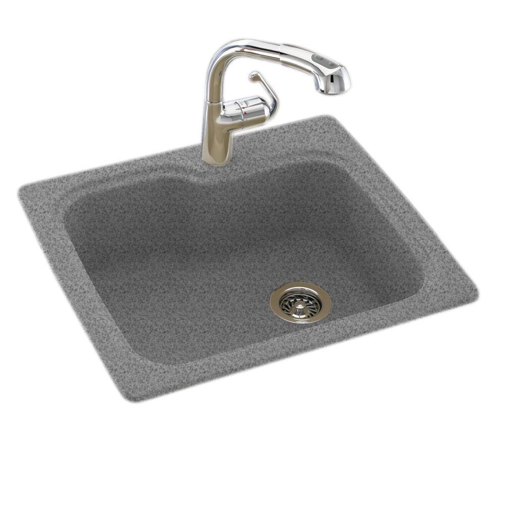 composite kitchen sinks swan dual mount composite 25 in 1 single bowl 2415