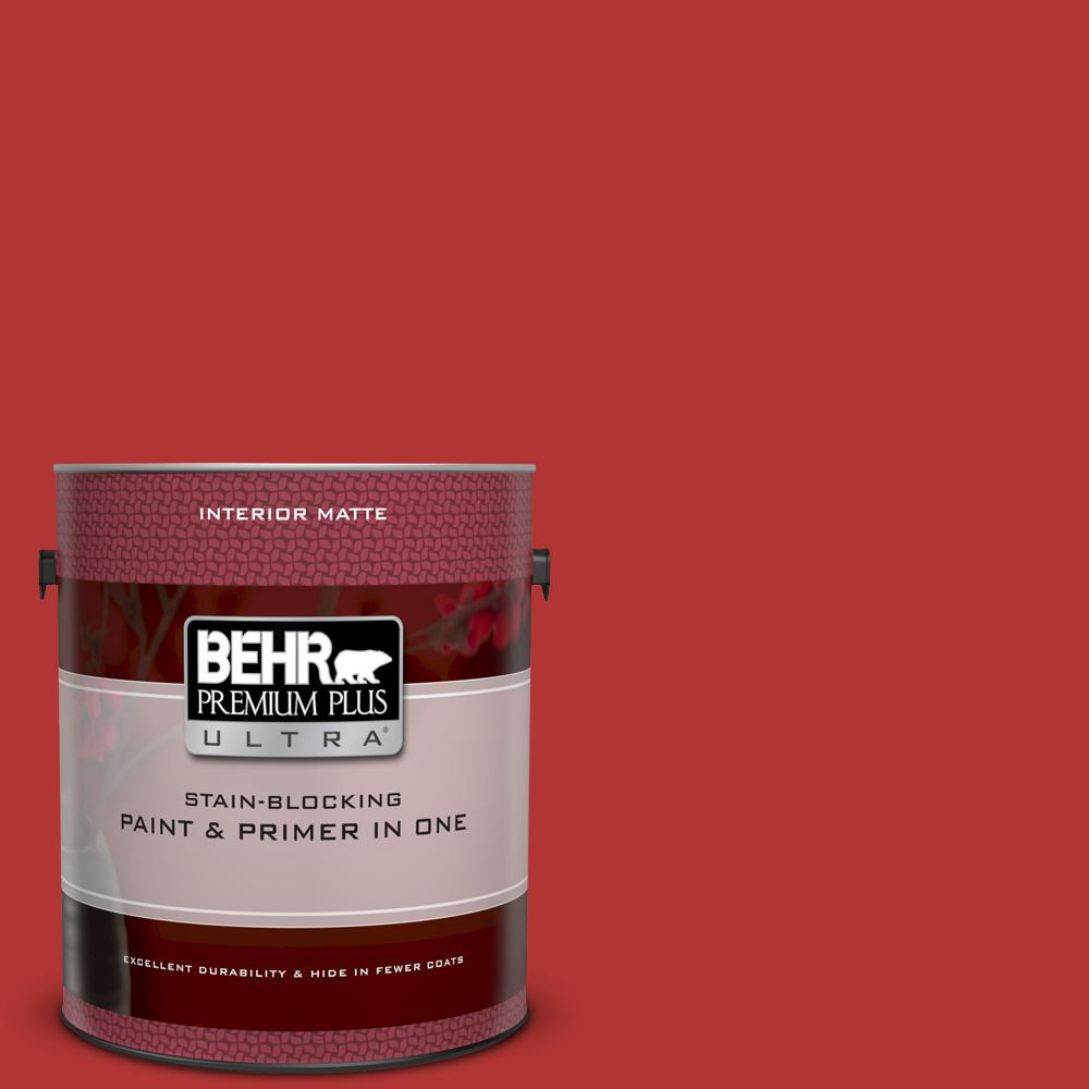 170b 7 Red Tomato Matte Interior Paint And Primer In One