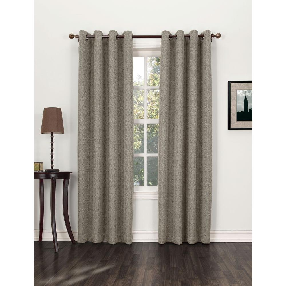 Sun Zero Blackout Marshfield Ecru Blackout Grommet Curtain