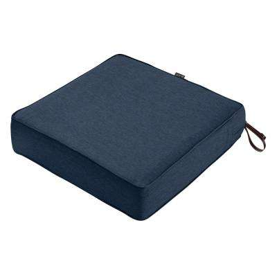 Montlake 21 in. W x 21 in. D x 5 in. Thick Heather Indigo Blue Outdoor Lounge Chair Cushion