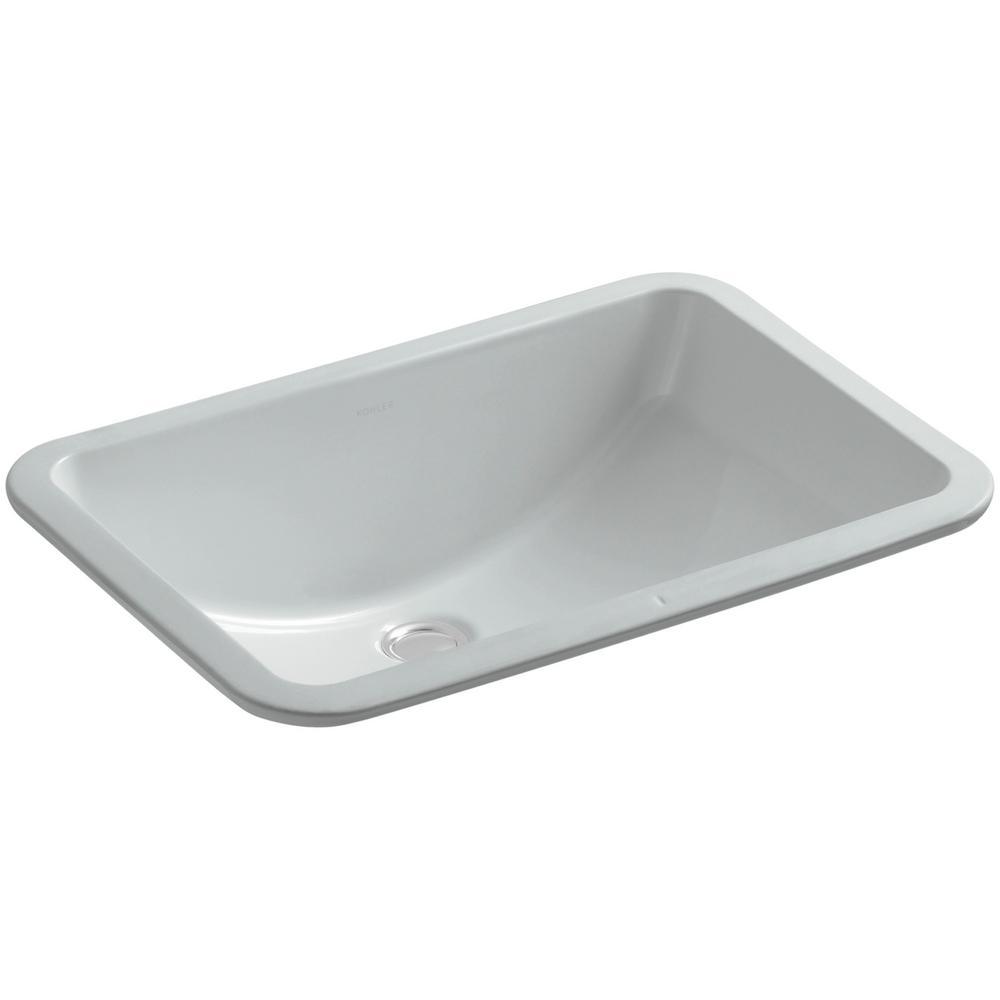 Kohler Ladena 20 7 8 Undermount Bathroom Sink With Glazed Underside In Ice Grey K 2214 G 95