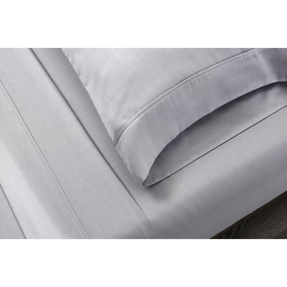 Homegrown Solid 300-Thread Count Cotton Sateen Sheet Set