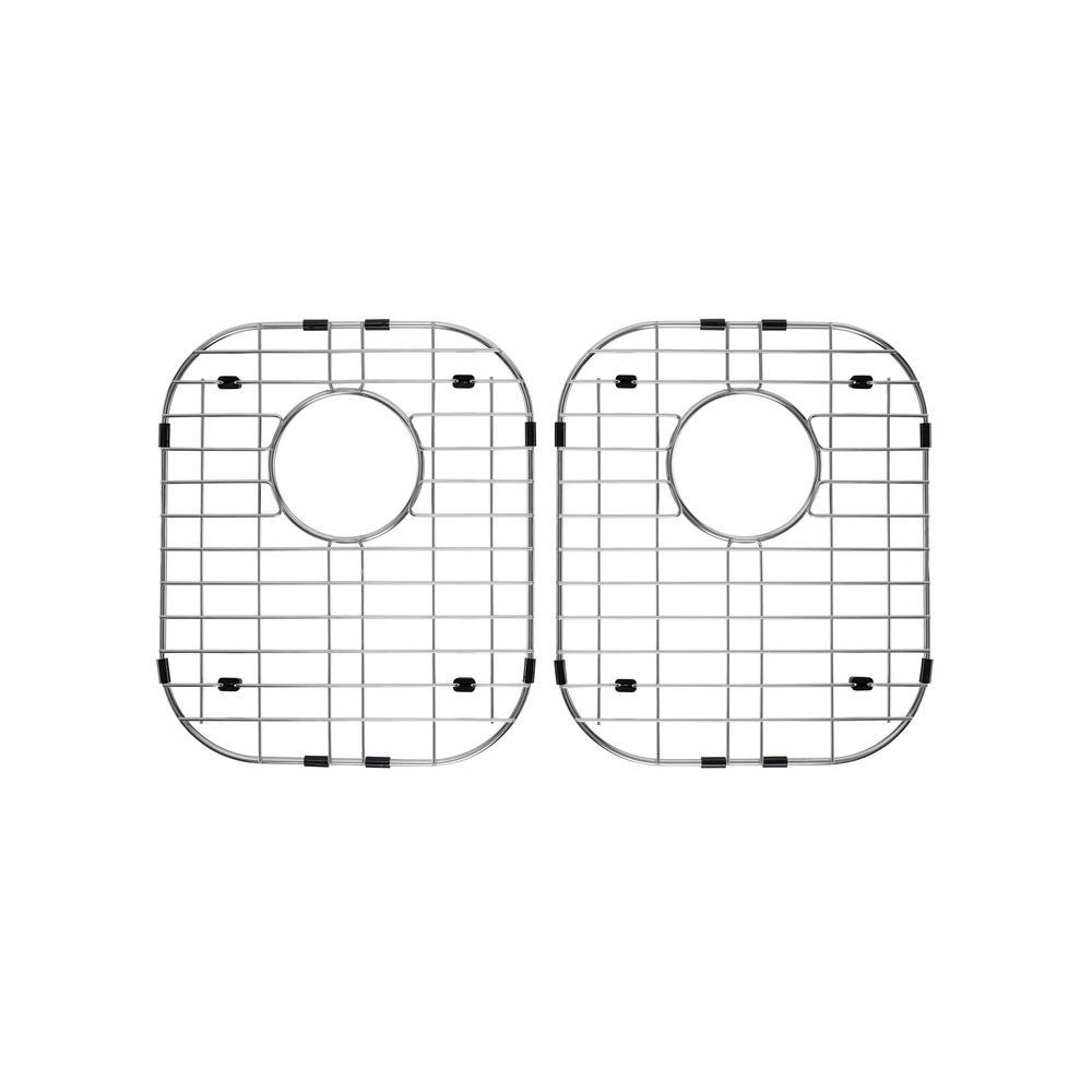 50/50 Double Bowl Radius Kitchen Sink Stainless Steel Grid Set