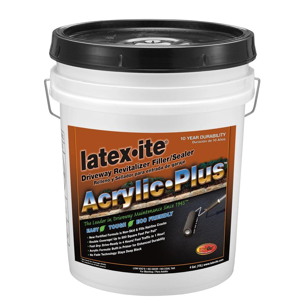 Latex-ite 4 Gal. Acrylic Plus Driveway Revitalizer Filler/Sealer